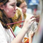 Abington Art Studio students paint murals for the Finish Shop Pocket Park