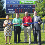 First National Community Bank donates scoreboard to Abington Little League