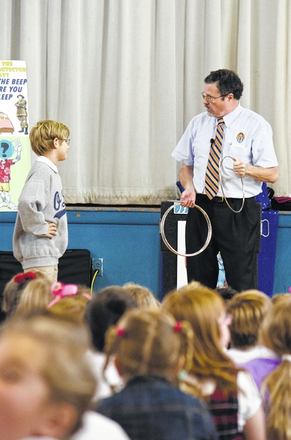 Our Lady of Peace students learn about safety through fun and laughter