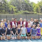 Holy Cross doubles team wins JV Girls Invitational Tennis Tournament at Abington Heights