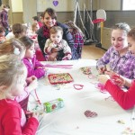Children make heart-themed crafts, play games during Waverly Community House Valentine's Day Party