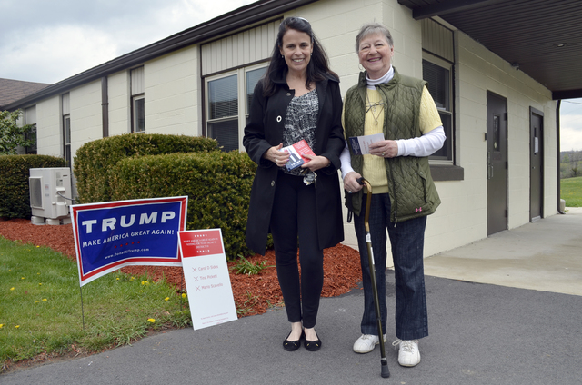 Abington area residents campaign, vote at local polling locations for the Pennsylvania primary