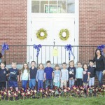 Happiness Hive Learning Academy students, Clarks Green United Methodist Church members 'plant' pinwheel garden for Child Abuse Awareness month