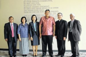 Distinguished guests from Thailand participate in The University of Scranton's Jay Nathan, Ph.D., Visiting Scholar Lecture Series