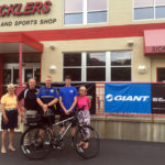 Clarks Summit Police Department receives bike donation from Sicklers Bike and Sports Shop