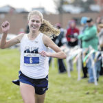 Abington Heights' Katie Dammer medals at state cross country meet