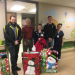 Marywood University Aviators Club delivers toys to Moses Taylor Hospital
