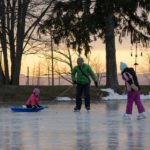 Families flock to Hillside Park for ice skating during cold spell