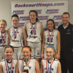 Our Lady of Peace girls basketball teams celebrate winning season