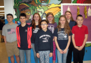 Abington Heights Middle School announces students of the month for February
