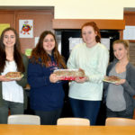Lakeland High School club bakes Valentine's Day cookies for Scranton Health Care Center residents