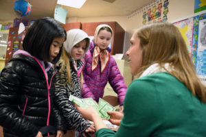 Third-grade students from Newton-Ransom, South Abington elementary schools participate in Ellis Island Simulation