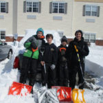 Our Lady of Peace School students shovel snow at Clarks Summit Senior Living