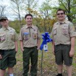 Members of North Scranton Boy Scout Troop 57 volunteer at Children's Advocacy Center