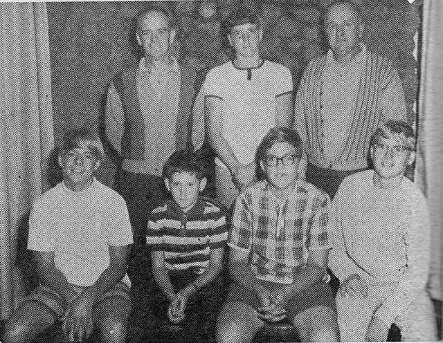 From left, first row, 1967 junior golf champions Jim Harvey Jack, Williams, Jeff Balsom and Garry Martola. Second row, Norm Whitbeck, Dave Lansidle and Reg Richardson.