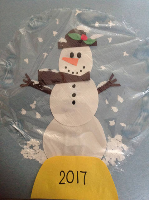 Kids can make their own holiday snowman snow globes like this one, following some simple instructions.