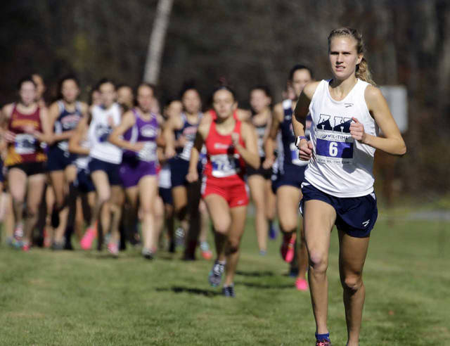 Abington Heights' Katie Dammer, shown during the District 2 Class 3A championship race, placed 23rd out of 199 runners during Nike Cross Nationals in Oregon.