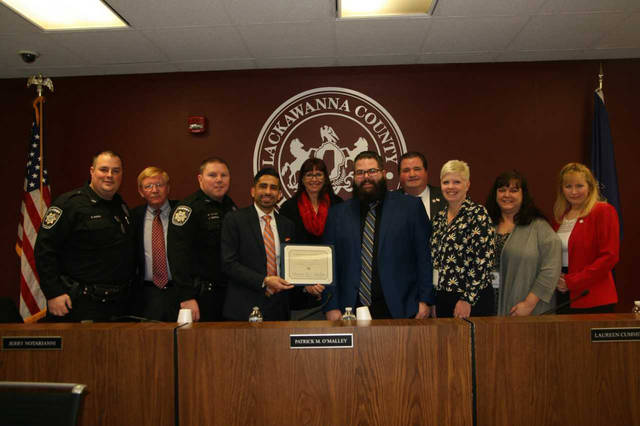 Dickson City Hyundai recognized by commissioners for charitable efforts