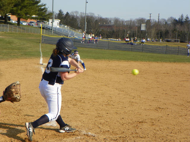 Abington Heights' Mara Hamm had one of Abington Heights' 11 hits in a 7-1 win over Valley View Friday afternoon.