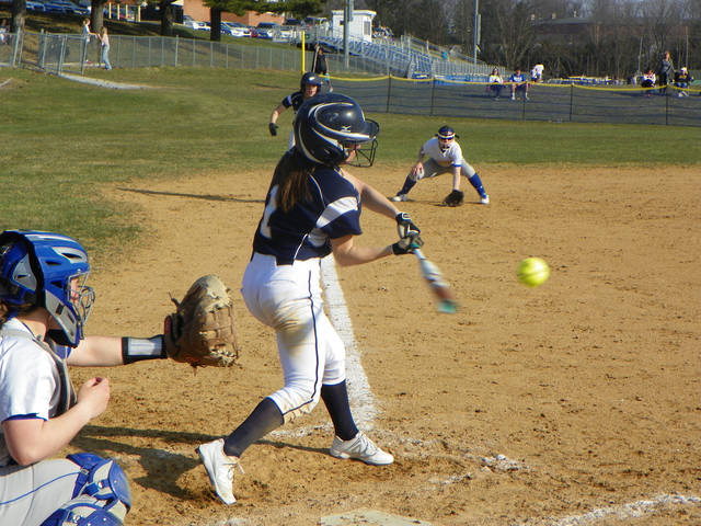 Abington Heights' Alison Fiorillo singled in the second inning of the Lady Comets' 7-1 win over Valley View Friday afternoon.