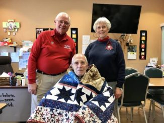 William Gostomski honored by Quilts of Valor Foundation