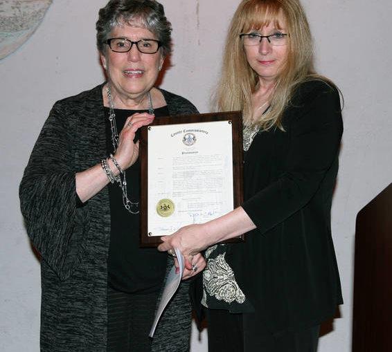 Lackawanna County Commissioner Laureen Cummings recognizes Holocaust