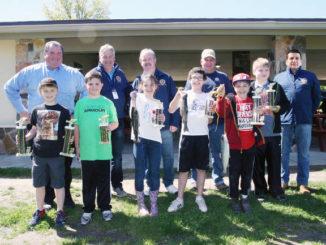 McDade Fishing Derby winners in 9-12 age category
