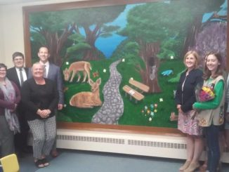 Clarks Summit Elementary School emotional support class enjoys new mural