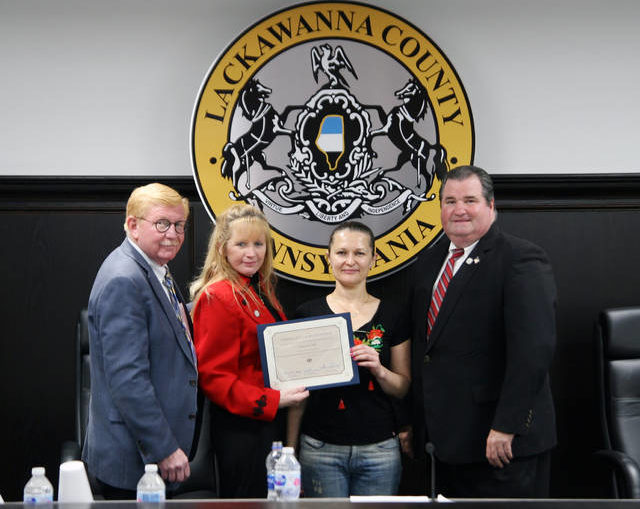 Lackawanna County commissioners recognize Crocus Cafe