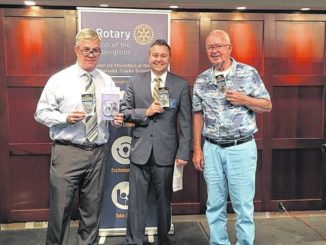Abington Rotary parking servants presented with faux badges