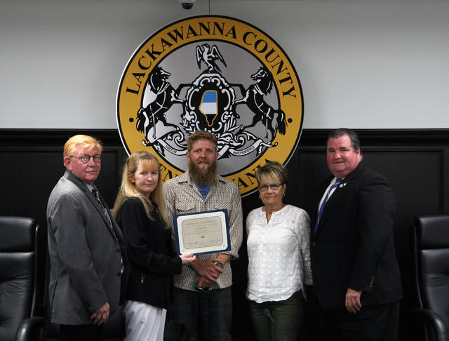 Lackawanna County commissioners recognize Cedar Bike