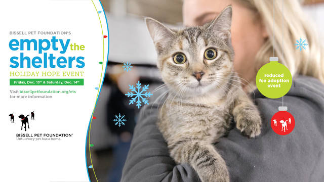 Griffin Pond Animal Shelter to take part in Empty the Shelters event Dec. 14