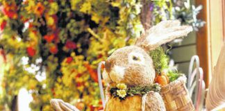 Decorations for Easter adorn Corky's Garden Path in Clarks Summit.                                  Fred Adams   For Abington Journal