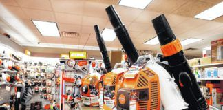 Justus Home and Garden in Clarks Summit handles a large inventory of Stihl outdoor power equipment.                                  Fred Adams | For Abington Journal