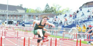 Marywood University freshman George Thompson, of Montrose, recently broke two school records for track and field.                                  Submitted photo