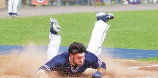 Nick Carlini, a senior infielder from Abington Heights, started all 28 games for Keystone College and batted .375.                                  Submitted photo