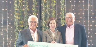 The McDonald Foudnation recently donated to the Northeast Regional Cancer Institute. From left are Leo Vergnetti, Board of Ambassadors Chairman, Karen M. Saunders, President, Northeast Regional Cancer Institute and Nevin Gerber, McDonald Foundation.                                  Submitted photo
