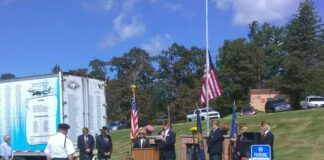 The Clarks Summit VFW Post 7069 conducts a 9/11 memorial ceremony at the Fleetville Fall Fair outside the Fleetville Fire Company.                                  Ben Freda   For Abington Journal