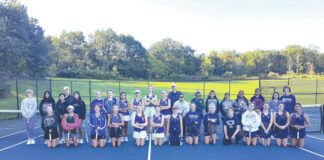 Pictured are all participants from Holy Cross HS, West Scranton HS, Abington Heights HS, Scranton Prep, and Scranton HS with coaches.                                  Submitted photo